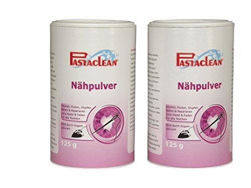Pastaclean Nähpulver 2x125 Gramm Nähfix Textilkleber Stoffkleber