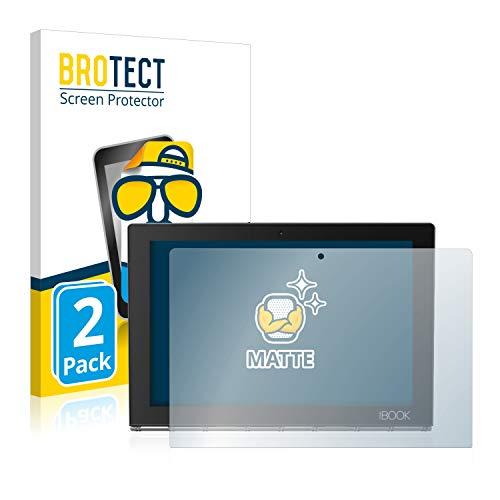 BROTECT 2X Entspiegelungs-Schutzfolie kompatibel mit Lenovo Yoga Book Bildschirmschutz-Folie Matt, Anti-Reflex, Anti-Fingerprint