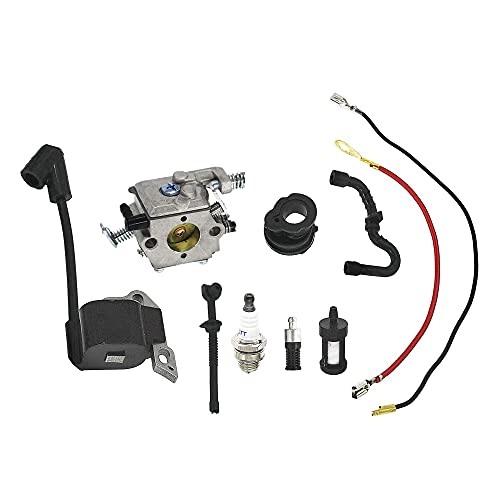 QHALEN Carburetor with Ignition Coil Tune Up Kit for STIHL MS170 MS180 017 018 Chainsaw 1130-120-0603