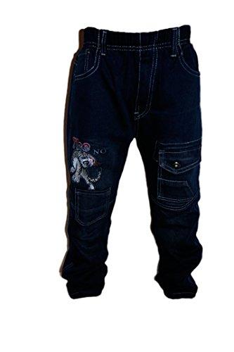 familientrends Thermojeans Jungen Thermohose Schneehose gefütterte Jeans warme Hose mit Fleece, Grösse Bekleidung:98/104;Farbe:Blau