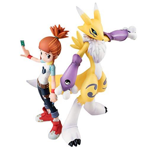 HEWE Digimon-Abenteuer-Statue, Anime Figur Digimon Figur-Action Makino Ruki Renamon Figuren Anime, Anime Figuren PVC Statuen Ornements Collection Dekoration Jouet Modèle Cadeau Anniversaire 5.9in