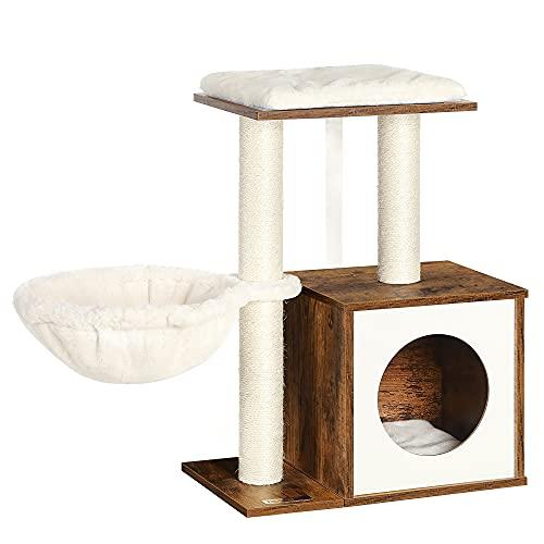 FEANDREA Árbol de Gatos, Cojines Extraíbles, Marrón Rústico PCT122X01