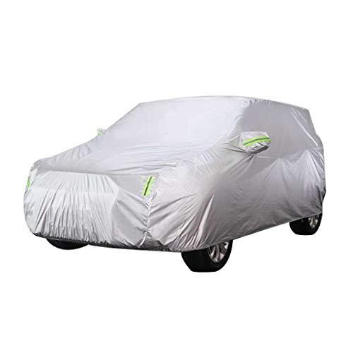 Autoplanen Kompatibel mit Nissan Qashqai Auto Abdeckung Spezielle Verdickung Oxford Tuch Sonnenschutz Regenmantel Staubschutz Auto Abdeckung (Farbe : Silber)