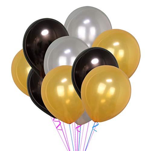 YeahiBaby 100pcs Globos Globos de látex metálicos decoración del Partido Globos 10 Pulgadas (Color Surtido)