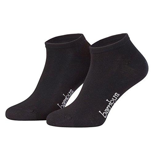 Piarini 6 Paar Bambus Socken Sneaker Socken Damen dünne atmungsaktive antibakterielle diabetiker Füßlinge Gr. 35 36 37 38 schwarz