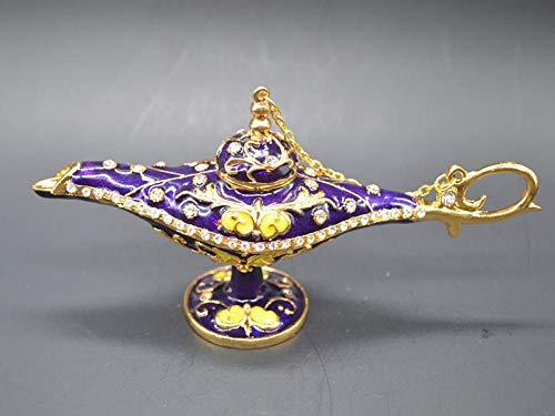 YRZSYF Esculturas de jardín y estatuas hermosa lámpara mágica púrpura para la decoración del hogar