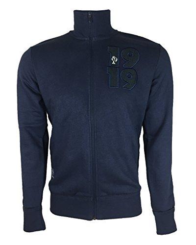 Adidas Veste Manches Longues Homme, Bleu/Gris/Anthracite, FR : S (Taille Fabricant : S)
