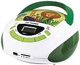 Metronic 477144 Radio Lecteur CD enfant Jungle avec Port USB/SD/AUX-IN - Vert et Blanc (Reconditionné)