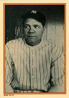 1985 Topps Circle K All Time Home Run Kings #2 Babe Ruth Baseball Card