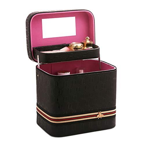 Boîte de Rangement Portable de boîte Simple (Color : Black, Taille : 24 * 18 * 24cm)