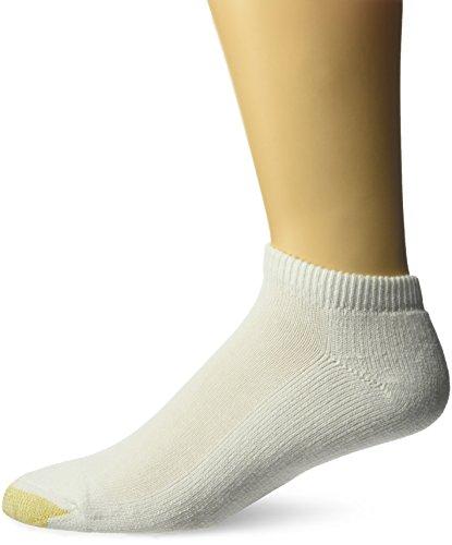 Gold Toe Men's Ultra Tec Performance No Show Socks, 3-Pairs, White, Large