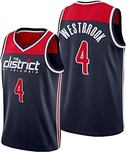 BMSGM Hombres Jerseys-NBA Washington Wizards # 4 Russell Westbrook Camiseta De Baloncesto Sin Mangas Camiseta Deportiva, Malla De Tela Transpirable,A,XXL(185~190CM/95~110KG)