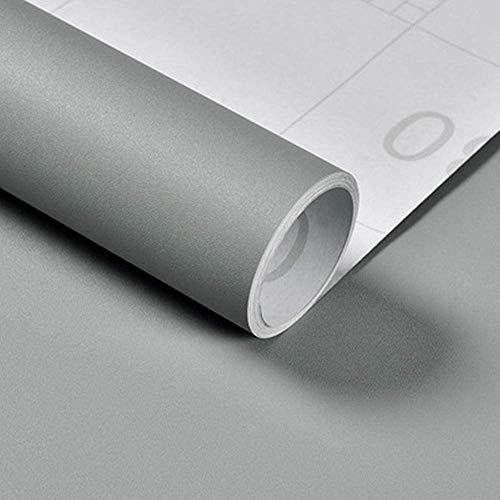 Vinile Decorativo Autoadesivo Impermeabile Carta da Parati Adesiva Muro Carta Adesivi per Muro Porta Mobili Wall Sticker 60X300cm (Grigio chiaro)