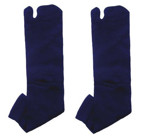 Ninja Tabi Chaussettes Flip Flop japonais gros orteil sandal- Bleu foncé (Taille 7–11)