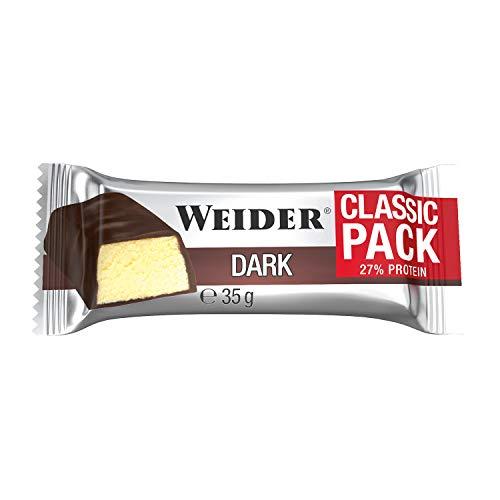 Weider Classic Bar Sabor Chocolate Negro Plátano. Brrita con 27% de proteína...