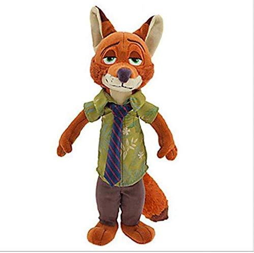 HNZYF Zootopia Plush Toys Rabbit Judy Hopps Fox Nick Wilde Plush Soft Peluches Juguetes Muñeca para Niños Regalo con Etiqueta 23Cm Fox Nick Wilde