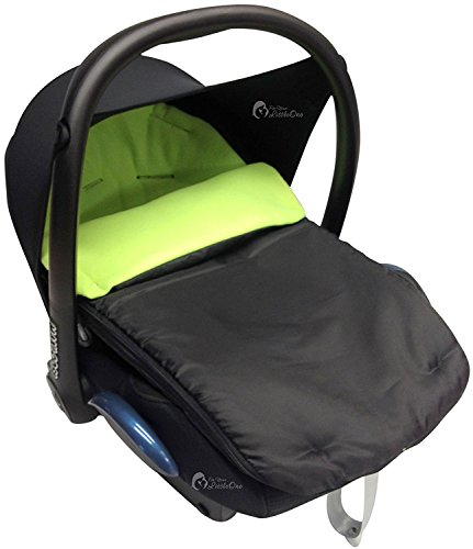 Autositz Fußsack/COSY TOES kompatibel mit Maxi Cosi Pebble Cabrio Lime