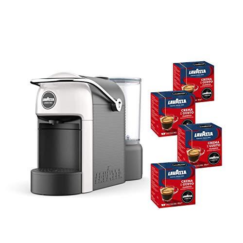 Lavazza A Modo Mio, Macchina Caffé Espresso Jolie Con 64 Capsule Crema e Gusto Incluse, Macchinetta A Capsule Per Un Caffè A Casa Come Al Bar, 1250 W, 0.6 Litri, Colore Bianco