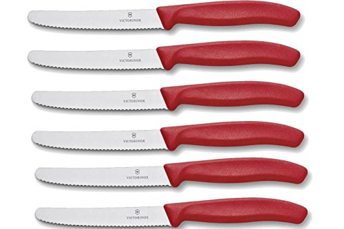 *Victorinox Brötchen- Tomatenmesser 6er-Set Brötchenmesser Rot*