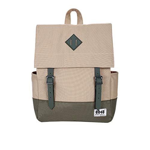 Damenrucksack Schulter leinwand Harajuku diebstahlsichere wasserdichte Mode Wilde einfache Reisetasche (Color : McCain)