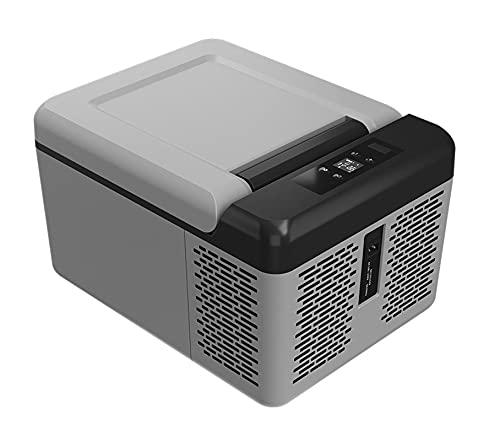 QSWL Mini Coche Refrigerador 12 Voltios Refrigerador Portátil Congelador 13 Cuartos (12 litros), Adecuado para Conducir, Viajar, Al Aire Libre (Color : A, Size : 24V 110V 220V)