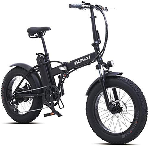 Woodtree 20 Pulgadas de Bicicleta eléctrica Nieve 500W de Bicicletas de montaña...