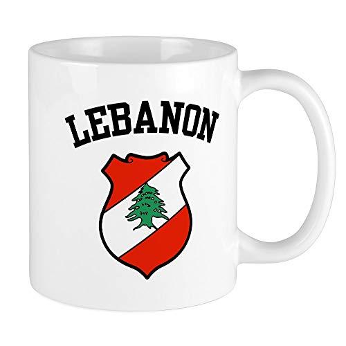 CafePress - Libanon Wappen Tasse - Einzigartige Kaffeetasse, Kaffeetasse, Teetasse