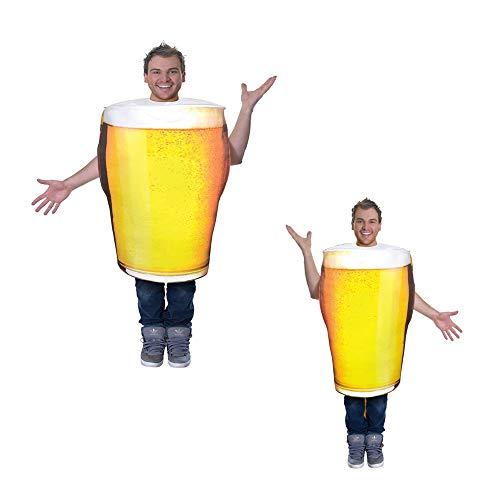 AC779 Pinta di Birra Costume One Size Gonfiabile Divertente Blow Up Vestito per Adulti Uomini di Carnevale di Halloween Partito delle Donne di Ruolo-Giocare Outfits,Beer