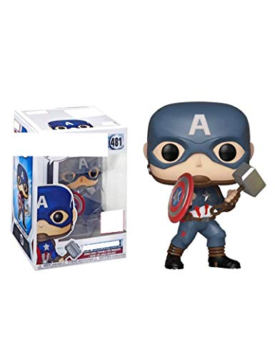 LHANZ Captain America Steve Rogers statue Ornaments toy Collection souvenir MARVEL Animated cartoons Fan gift 10CM