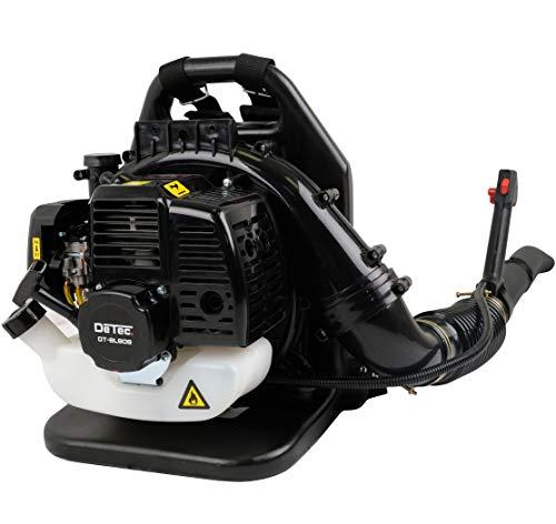 DeTec. Benzine bladblazer DT-BL808 met rugkussen & draagriem met snelheidsregelaar voor de benzinemotor