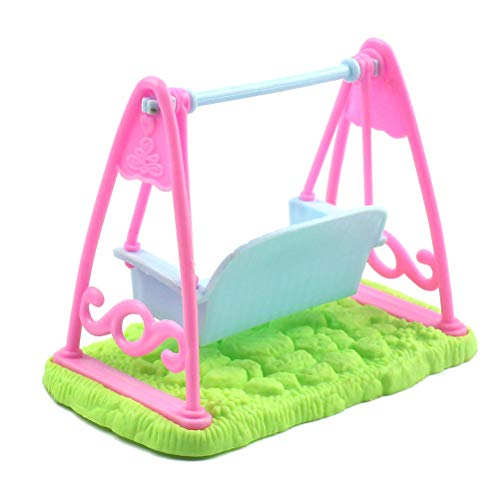 Sarplle Mini Doll Swing DIY Dollhouse Furniture Dollhouse Chair Sedia a Dondolo Mobili da Giardino in Miniatura per Accessori per Bambole Barbie