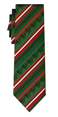 generisch Seidenkrawatte folklore stripe red on green