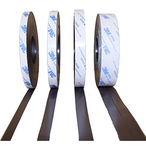 """Preisvergleich Produktbild Magnetband mit 3M Kleber Kleberücken selbstklebend Kombi Typ A + Typ B - 1, 5mm x 25, 4mm x 27 Meter - Qualität """" Anisotrop"""" Höchste Haftkraft - Magnetfolie diese Magnetstreifen sind mit einem 3M Kleber 9448A - für höchste Klebekraft Sonnenbeständig bei Fliegengitter"""