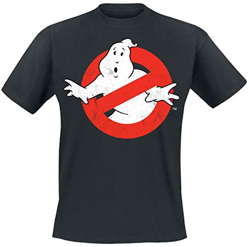 Officially Licensed Ghostbusters Distressed Logo (Black)