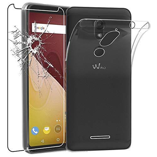 ebestStar - kompatibel mit Wiko View Prime Hülle Handyhülle [Ultra Dünn], Durchsichtige Klar Flex Silikon Schutzhülle, Transparent + Panzerglas Schutzfolie [Phone: 152.3 x 72.8 x 8.3mm, 5.7'']