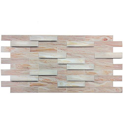 Pannelli parete PVC Finta pietra Termoformato 3D - ROVERE mis.48x98 cm