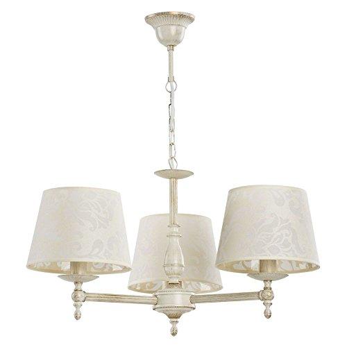 ALFA ROKSANA White 3 Lampara de techo colgante Lampara de arana (E14,40W)