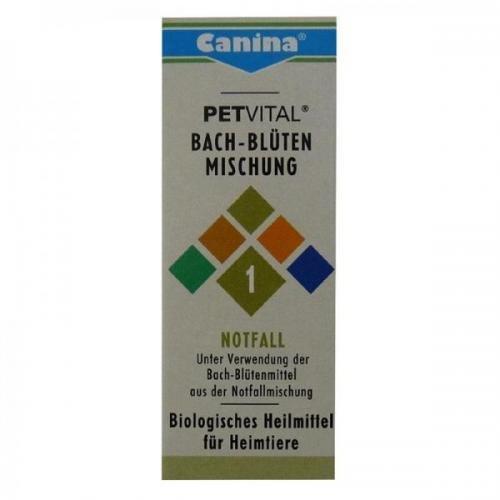 Canina Pharma Petvital Bachblüten Nr. 1 - Notfall 10g, Beruhigunsmittel, schlafmittel