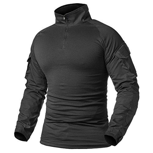 ReFire Gear - Maglietta militare da uomo, a maniche lunghe, con cerniera a 1/4