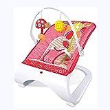 Cuna para Bebés, Mecedora Vibratoria con Funcion mecedoraPortátil Comfort ,Gandulita reclinable para bebé (Color : Red)