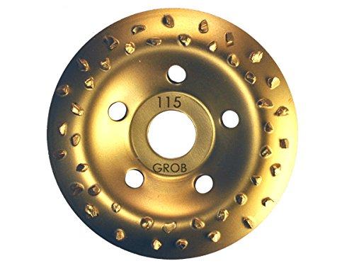 Hartmetall HM Schleiftopf Schleifteller 115 mm Hartmetallsplit Topfscheibe grob/mittel/fein (Grob)