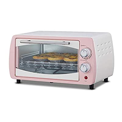LQRYJDZ Electric oven, 10L Mini Oven Adjustable Temperature 0-230? and 60 Minutes Timer Independent Temperature Control Household Baking Electric Oven Baking Cake and Bread Multi-function Automatic wi