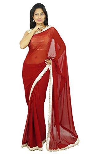 Indianbeautifulart Indische traditionelle Partei-Abnutzungs-Sari Designer Georgette Hochzeit Saree