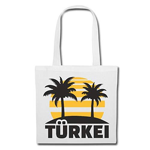 Tasche Umhängetasche TÜRKEI - TÜRKIYE - TÜRKE - TÜRKISCH - Ankara Einkaufstasche Schulbeutel Turnbeutel in Weiß