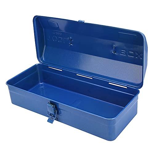 Caja de herramientas duradera de color azul con gran capacidad para almacenamiento de herramientas de mantenimiento (37 x 16 x 11 (350))
