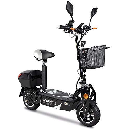 Rolektro E-Joy 45 Elektroroller mit Lithium Akku 45km/h E-Scooter 1000Watt Radnabenmotor 50km EU-Zulassung
