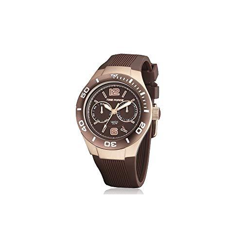 Time Force Reloj analogico para Mujer de Cuarzo con Correa en Acero Inoxidable TF4181L15