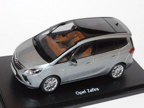 Opel Zafira Tourer C Ab 2012 Silber Lake Grau 1/43 Ist Ixo Modell Auto mit individiuellem Wunschkennzeichen