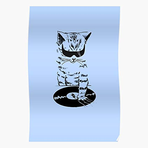 Kitten Club Hip Cool Rap Night Music Hop Cat Wtf Regalo para la decoración del hogar Wall Art Print Poster 11.7 x 16.5 inch