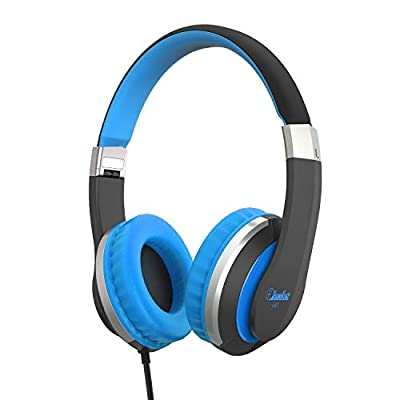 Kids Headphones Elecder i41 Headphones for Kids Children Girls Boys Teens Foldable Adjustable On Ear Headphones with 3.5mm Jack for iPad Cellphones Computer Kindle Airplane School Black&Blue from ELECDER